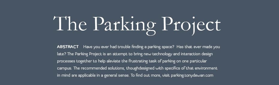 Sample of The Parking Project